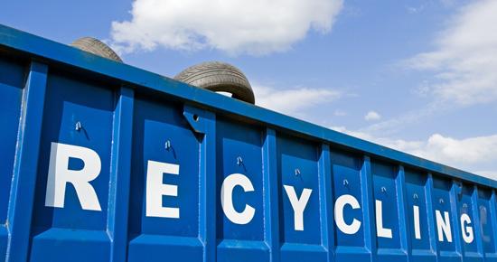 Benne de recyclage de pneus